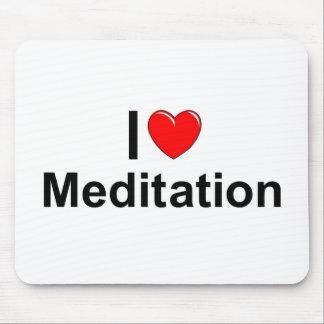Amo la meditación (del corazón) mousepad