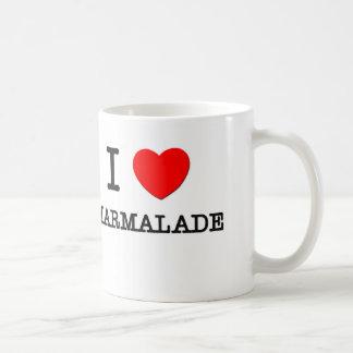 Amo la mermelada taza de café