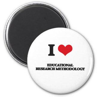 Amo la metodología educativa de la investigación imán redondo 5 cm