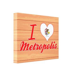 Amo la metrópoli, Illinois Impresión En Lona Estirada