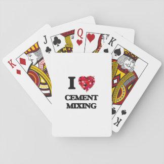 Amo la mezcla del cemento baraja de cartas
