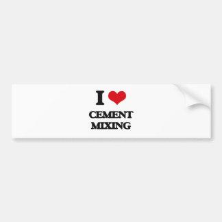 Amo la mezcla del cemento pegatina de parachoque