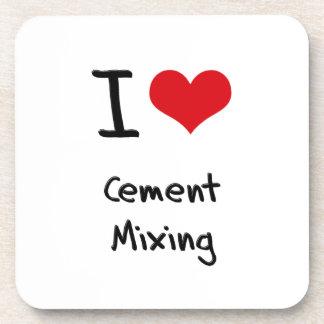 Amo la mezcla del cemento posavasos