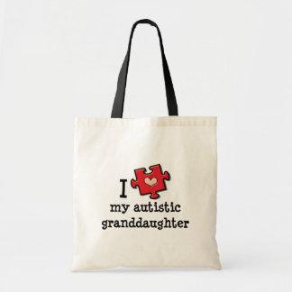 Amo la mi bolsa de asas autística de la nieta