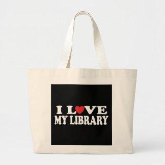 Amo la mi bolsa de asas de la biblioteca