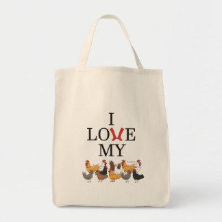 Amo la mi bolsa de asas de los pollos