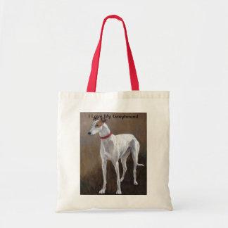 Amo la mi bolsa de asas del arte del perro del gal