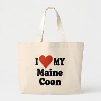 Amo la mi bolsa de asas del Coon de Maine