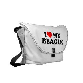 Amo la mi bolsa de mensajero del carrito del beagl bolsas messenger
