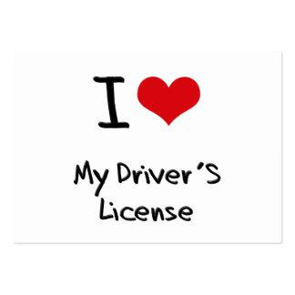 Amo la mi licencia de conductor tarjeta de visita