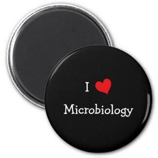 Amo la microbiología imán redondo 5 cm