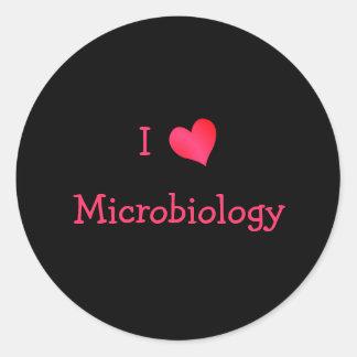 Amo la microbiología pegatina redonda