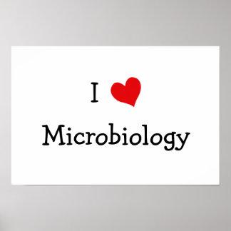 Amo la microbiología póster