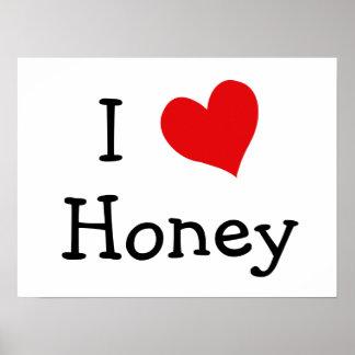 Amo la miel póster
