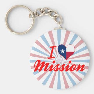 Amo la misión, Tejas Llavero Personalizado