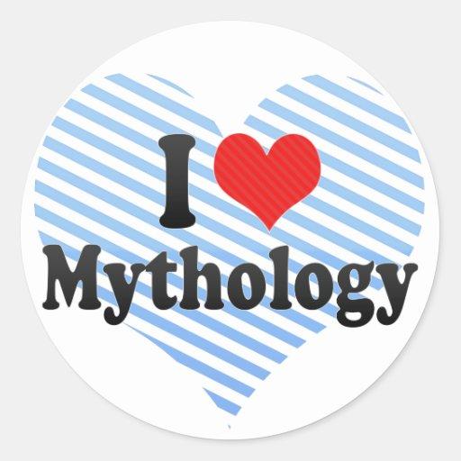 Amo la mitología pegatinas