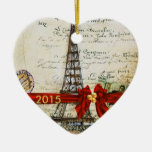 AMO la MODA DE ENCARGO 2015 del ornamento del Adorno Navideño De Cerámica En Forma De Corazón