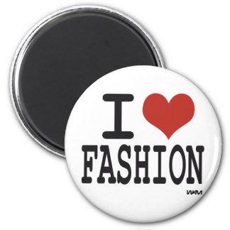 Amo la moda imán redondo 5 cm