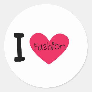 Amo la moda pegatina redonda