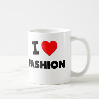 Amo la moda taza de café