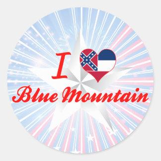Amo la montaña azul Mississippi Pegatinas