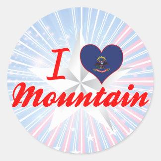 Amo la montaña, Dakota del Norte Pegatinas Redondas