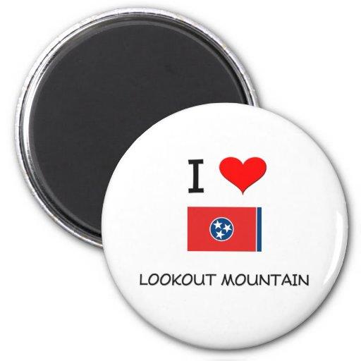 Amo la montaña Tennessee del puesto de observación Imán De Nevera