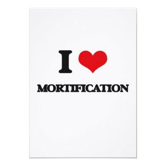 Amo la mortificación invitación 12,7 x 17,8 cm