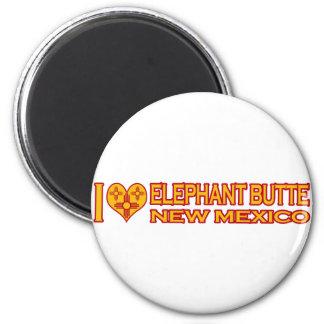 Amo la mota del elefante, nanómetro imán redondo 5 cm