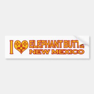 Amo la mota del elefante, nanómetro pegatina para auto