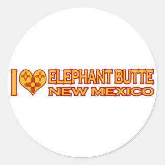 Amo la mota del elefante, nanómetro pegatina redonda