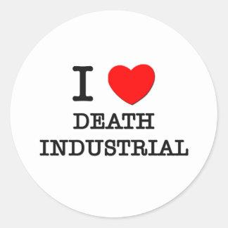 Amo la muerte industrial etiquetas
