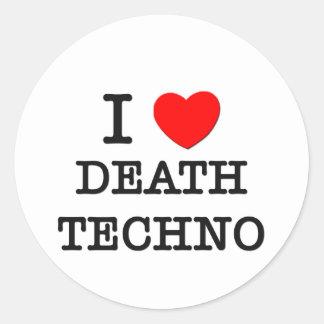 Amo la muerte Techno Etiqueta