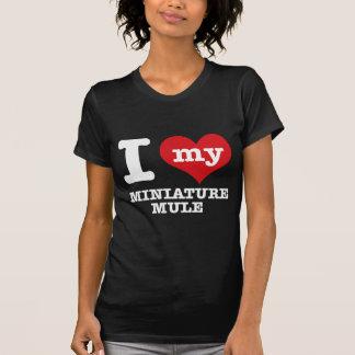 Amo la MULA MINIATURA Camiseta