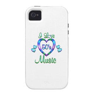 Amo la música 50s iPhone 4/4S fundas