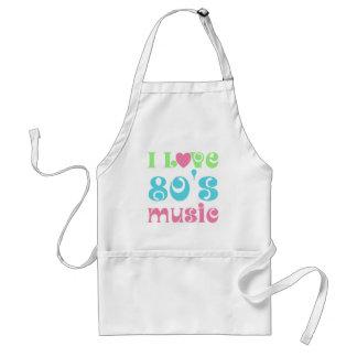 Amo la música 80s delantal