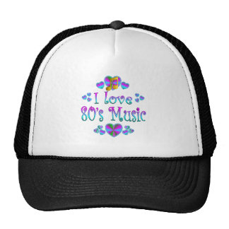 Amo la música 80s gorros