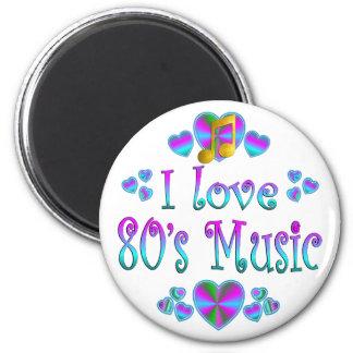Amo la música 80s imanes