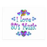 Amo la música 80s postal