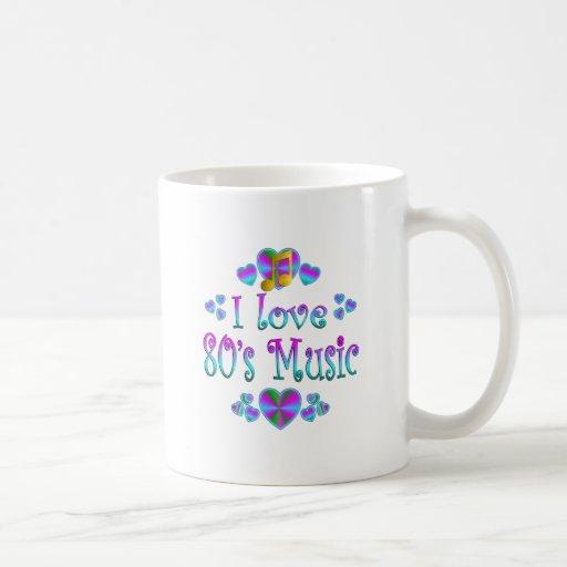 Amo la música 80s tazas de café