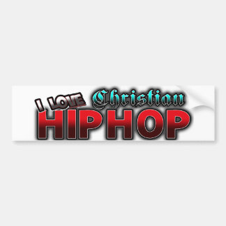 Amo la música cristiana de HIP HOP Pegatina Para Auto