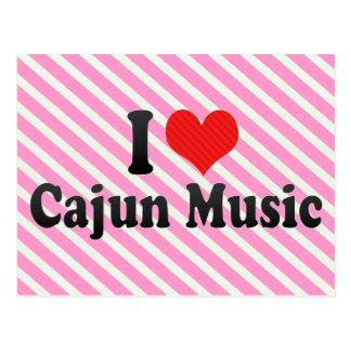 Amo la música de Cajun Tarjeta Postal