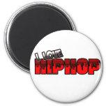 Amo la música de HIP HOP Imán Para Frigorifico