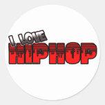 Amo la música de HIP HOP Pegatinas Redondas