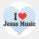 Amo la música de Jesús Pegatina Redonda