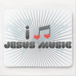 Amo la música de Jesús Tapetes De Ratón