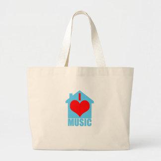 Amo la música de la casa - casa del corazón bolsa