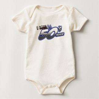 Amo la MÚSICA de los años 50 del corazón 50s de Body Para Bebé