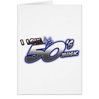 Amo la MÚSICA de los años 50 del corazón 50s de lo Tarjeta De Felicitación