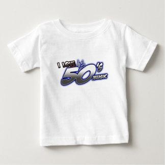 Amo la MÚSICA de los años 50 del corazón 50s de Playera De Bebé